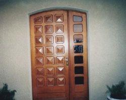Metzeresche - Porte d'entrée pleine avec fixe vitré