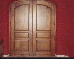 Thionville - Menica Menuiserie - Double portes chêne