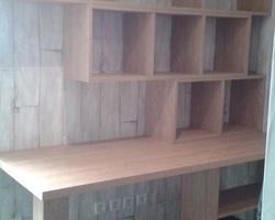 Avril - Menica Menuiserie -Meuble bureau/bibliothèque en chêne stratifié