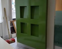Menica Menuiserie - porte document en bois laqué vert