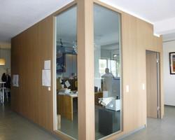 Steinfort  Luxembourg - MENICA - Cloison bois et vitrée